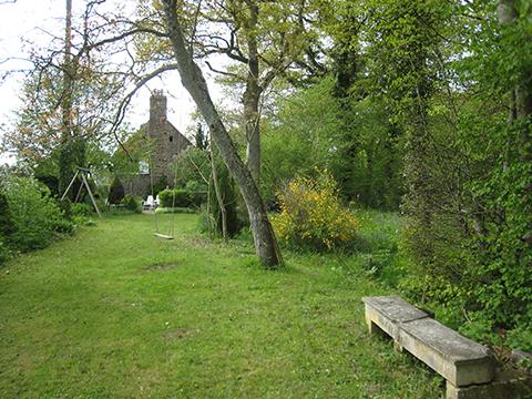 eerste gedeelte tuin